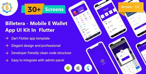 Billetera - Mobile eWallet App UI Kit in Flutter