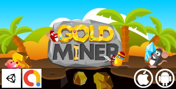 Gold Miner - Unity Casual Game With Admob For Android and iOS