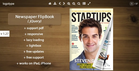 Newspaper Flipbook -jQuery - CodeCanyon Item for Sale