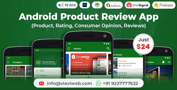 Android Product Review App (Product, Rating, Consumer Opinion, Reviews)