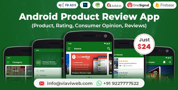 Android Product Review App (Product, Rating, Consumer Opinion, Reviews) - CodeCanyon Item for Sale