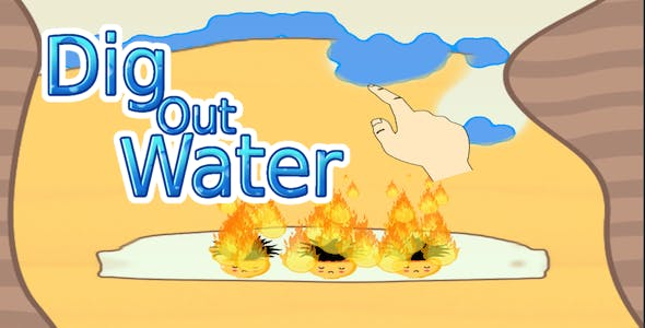 Dig out Water - Blow Fire Puzzle 3d - Complete Unity Template