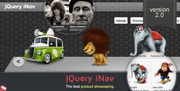jQuery iNav - Products Showcasing Navigation