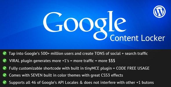 Google +1 Content Locker - CodeCanyon Item for Sale