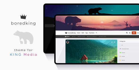 boredking - King Media Viral Magazine Theme