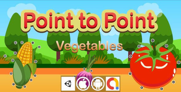 Edukida - Point to Point Vegetables Unity Kids Educational Game With Admob For Android and iOS