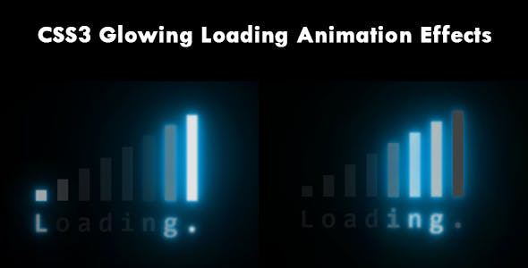 CSS3 Glowing Loading Animation Effects