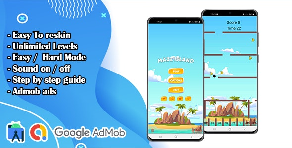Maze Island Game For Kids - CodeCanyon Item for Sale