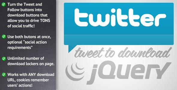 jQuery Tweet to Download