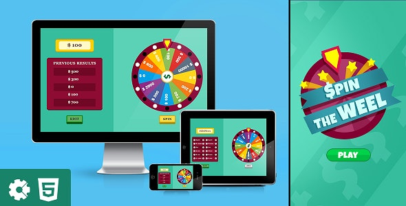 Spin the Wheel - HTML5 Game (.capx) - CodeCanyon Item for Sale