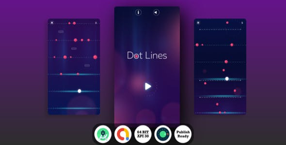 Dot Lines Android Game with Admob Ads + reward video + Android Studio + ready to publish