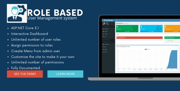 Role Based User Manager in ASP.NET Core 3.1 - CodeCanyon Item for Sale