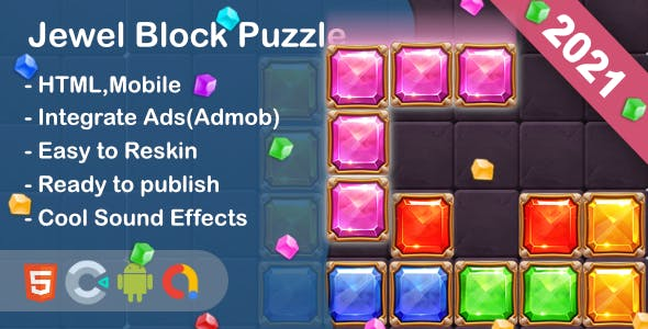 Jewel Block Puzzle (Html5 + Construct 3 +Mobile)