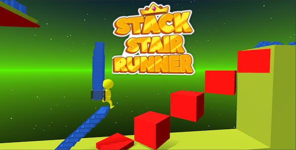 Stack Stair Runner Sky Climb 3d - Complete Unity Template