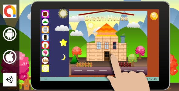 Edukida - Dream House Unity Kids Game With Admob For Android and iOS - CodeCanyon Item for Sale
