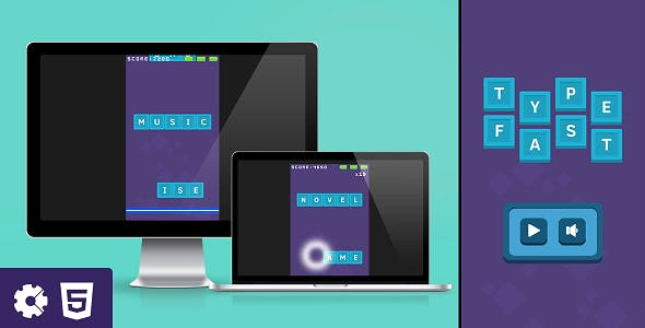 Type Fast - HTML5 Game (.capx)