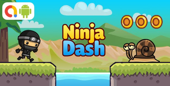 Ninja Dash Android Game with AdMob + Ready to Publish