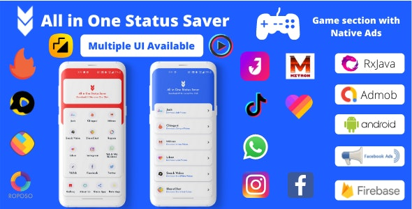 All in One Status Saver - FB, Insta, WA Story Saver & MxTakaTak, Moj, Josh and more Video Saver - CodeCanyon Item for Sale
