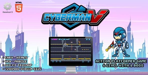 Cyberman V - Construct 2 Html5 Game