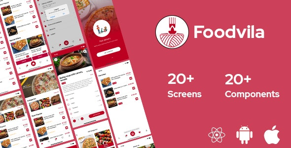 Foodvila - React Native Template - CodeCanyon Item for Sale