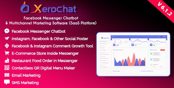 XeroChat - Facebook Chatbot, eCommerce & Social Media Management Tool (SaaS)