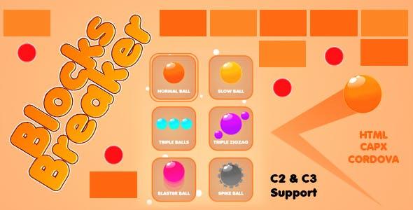 Blocks Breaker Game (CAPX | HTML5 | Cordova)