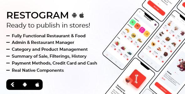 Restogram - Fully Functional Flutter Restaurant Order Application - CodeCanyon Item for Sale