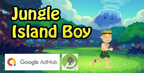 Jungle Island Boy Adventure Game - Buildbox Template + Android Project