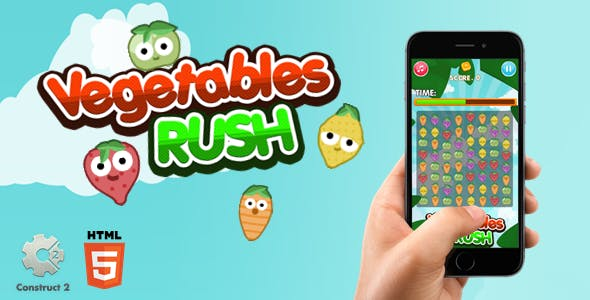 Vegetables Rush - Construct 2 Html5 Game