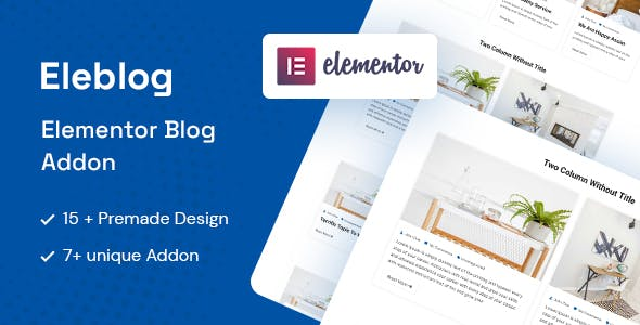 Eleblog - Elementor Blog Addon