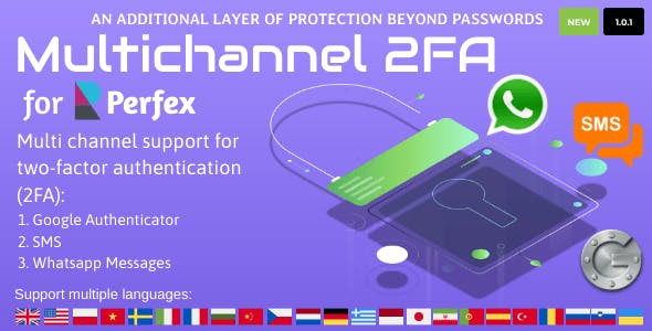 Multichannel Two Factor Authentication for Perfex CRM
