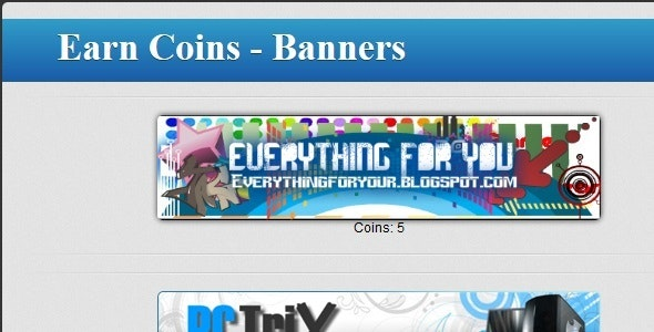 Earn Clicking Banners For Powerful Exchange System - CodeCanyon Item for Sale