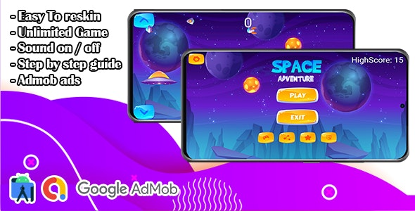 Space Adventure Shooting Game - CodeCanyon Item for Sale