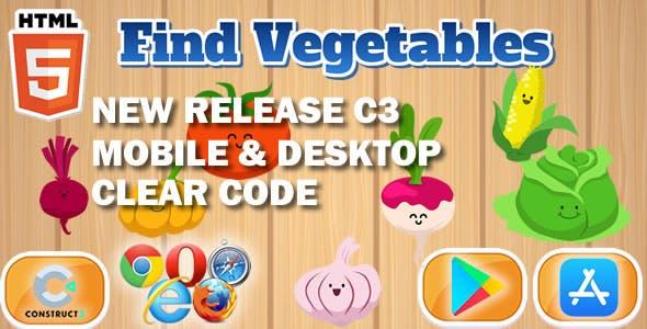 Find Vegetables Educational