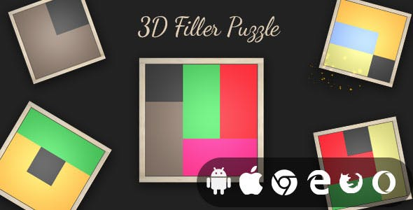 3D Filler Puzzle - Cross Platform 3D Puzzle Game