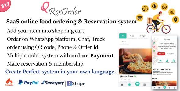 SaaS Online ordering / Restaurant management / Reservation system