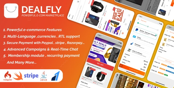 Dealfly - E-commerce & multi-vendors marketplace,Offers, Subscription system - iOS & Android - v2.1 - CodeCanyon Item for Sale