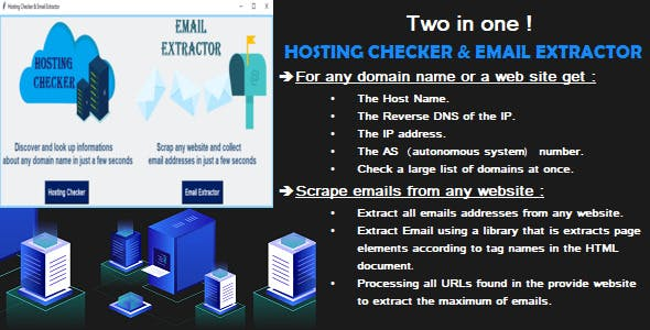 Hosting Checker and Email Extractor