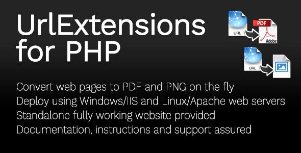 URLExtensions Converter for PDF/PNG