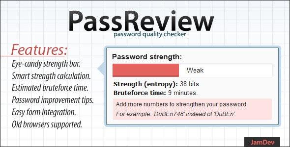 PassReview - password strength audit plugin  by JamDev