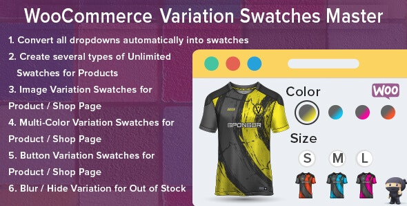 WooCommerce Variation Swatches Master - CodeCanyon Item for Sale