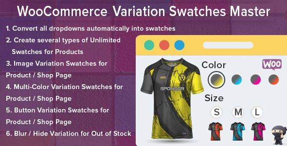 WooCommerce Variation Swatches Master