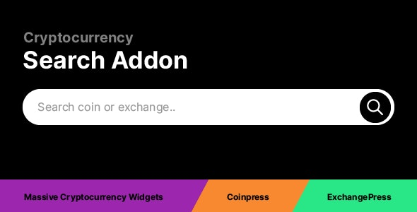 Cryptocurrency Search Addon - CodeCanyon Item for Sale