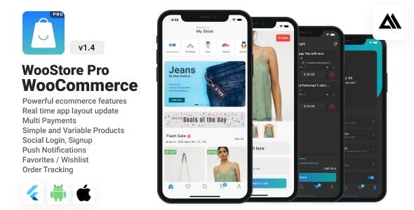 WooStore Pro WooCommerce - Full Flutter Ecommerce App