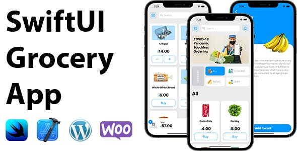 SwiftUI Grocery App   Woocommerce Full iOS Application