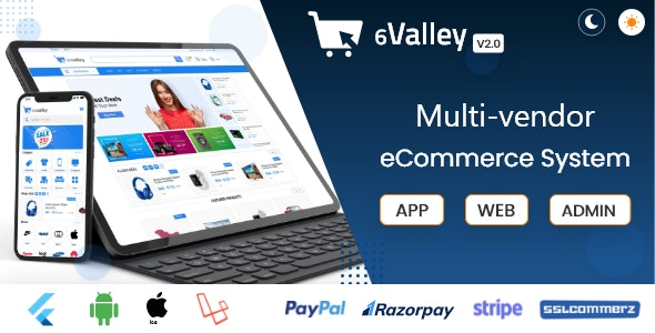 6valley Multi-Vendor E-commerce - Complete eCommerce Mobile App, Web and Admin Panel V2.0 - CodeCanyon Item for Sale