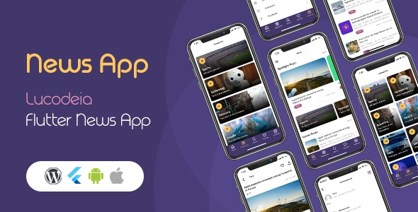 Lucodeia News - Flutter Wordpress News App - CodeCanyon Item for Sale
