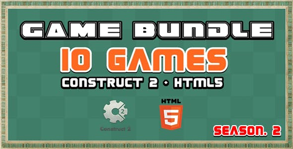 Game Bundle S2 - 10 Construct 2 and Html5 Game