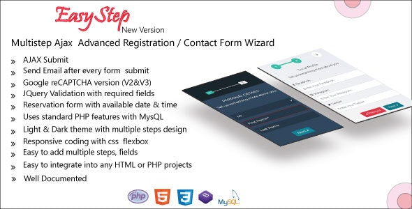 EasyStep - Multistep Ajax Advanced Registration / Loan  Form Wizard - CodeCanyon Item for Sale