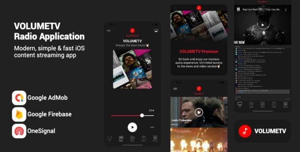 VOLUMETV - Live Streaming & Radio Station app